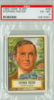 1952 Look N See 28 Stephen Foster PSA 6 Excellent to Mint