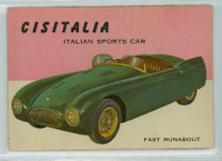1954 World On Wheels 102 Cistella Sports Car Very Good to Excellent