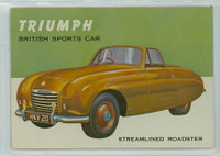 1954 World On Wheels 126 Triumph Streamlined Roadster Excellent to Excellent Plus
