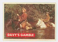 1956 Davy Crockett Green 11 Davy's Gamble Fair to Good