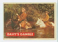 1956 Davy Crockett Green 11 Davy's Gamble Good to Very Good