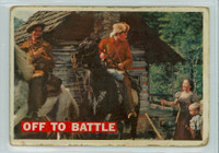 1956 Davy Crockett Orange 3 Off to Battle Poor