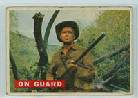 1956 Davy Crockett Orange 26 On Guard Fair to Poor