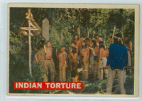 1956 Davy Crockett Orange 27 Indian Torture Fair to Good
