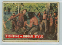 1956 Davy Crockett Orange 33 Fighting - Indian Style Poor
