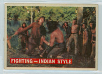 1956 Davy Crockett Orange 33 Fighting - Indian Style Very Good