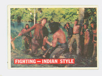 1956 Davy Crockett Orange 33 Fighting - Indian Style Near-Mint