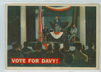 1956 Davy Crockett Orange 41 Vote for Davy! Very Good