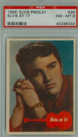 1956 Elvis 35 Elvis at 17 PSA 8 Near Mint to Mint
