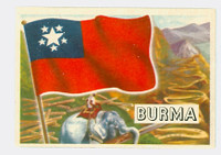1956 Flags of the World 11 Burma Near-Mint Plus
