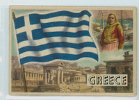 1956 Flags of the World 13 Greece Very Good