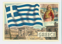 1956 Flags of the World 13 Greece Near-Mint