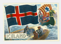 1956 Flags of the World 17 Iceland Near-Mint
