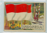 1956 Flags of the World 20 Indonesia Fair to Poor