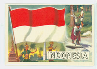 1956 Flags of the World 20 Indonesia Excellent to Excellent Plus