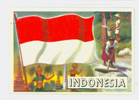 1956 Flags of the World 20 Indonesia Near-Mint