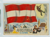 1956 Flags of the World 24 Austria Fair to Poor