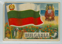 1956 Flags of the World 28 Bulgaria Poor