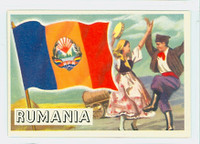 1956 Flags of the World 31 Rumania Near-Mint
