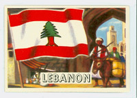 1956 Flags of the World 33 Lebanon Near-Mint