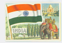 1956 Flags of the World 34 India Excellent