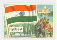 1956 Flags of the World 34 India Excellent to Mint
