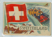 1956 Flags of the World 39 Switzerland Fair to Poor