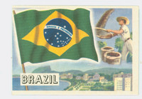 1956 Flags of the World 42 Brazil Excellent