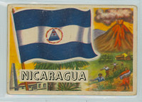 1956 Flags of the World 45 Nicaragua Fair to Good