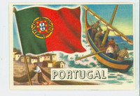 1956 Flags of the World 47 Portugal Excellent to Excellent Plus
