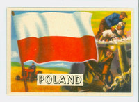 1956 Flags of the World 49 Poland Near-Mint to Mint