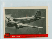 1956 Jets 20 Fokker S 13 Very Good to Excellent
