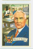 1956 U.S. Presidents 31 Warren Harding Excellent