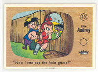 1960 Fleer Casper 19 Now I Can See the Hole Game Excellent to Mint