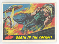 1962 Mars Attacks 12 Death In The Cockpit Excellent to Mint