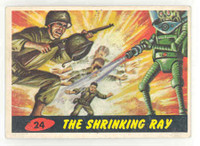 1962 Mars Attacks 24 The Shrinking Ray Excellent