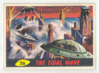 1962 Mars Attacks 26 The Tidal Wave Excellent to Mint
