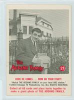 1964 Addams Family 21 Here He Comes...Now Do Your Stuff Near-Mint