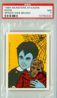 1964 Munsters Stickers 2 Eddie - Spider Web Behind PSA 7 Near Mint