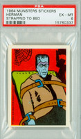1964 Munsters Stickers 9 Herman Strapped To Bed PSA 6 Excellent to Mint