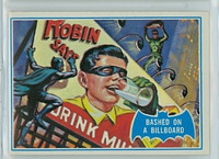 1966 Batman Blue Bat 9 Bashed on a Billboard Excellent to Mint Logo