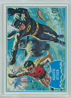 1966 Batman Blue Bat 41 Aquatic Attack Excellent to Mint Logo