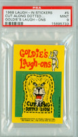 1968 Laugh-In Inserts 5 Cut Along Dotted Lion PSA 9 Mint