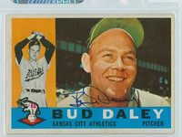 Bud Daley AUTOGRAPH 1960 Topps #8 Athletics CARD IS CLEAN EX