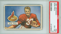 1951 Bowman Football 30 Don Paul