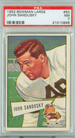 1952 Bowman Large 50 John Sandusky Cleveland Browns PSA 7 Near Mint