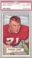 1952 Bowman Large 67 Dick Logan Cleveland Browns PSA 6 Excellent to Mint [40204340]