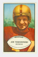 1953 Bowman Football 5 Joe Tereshinski Washington Redskins Excellent to Mint