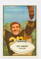 1953 Bowman Football 10 Pat Brady Pittsburgh Steelers Excellent