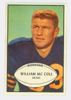 1953 Bowman Football 12 Bill McColl Chicago Bears Excellent to Excellent Plus